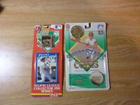 1990 MLB Baseball Jose Canseco FOTOBALL in Box + RARE Collector Pin and Coin Set