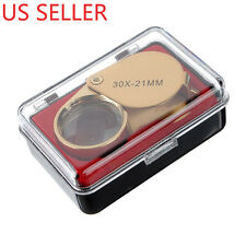Jewellers Loupe 30 x 21mm Glass Jewellery Antiques Magnifier Eye Lens USA