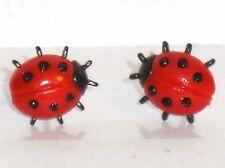 Ohrstecker Marienkäfer Tiere Insekten Damen Ohrringe Ohrschmuck Modeschmuck