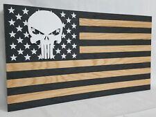 "39"" Punisher Skull Flag Gun Concealment Cabinet Hidden Home Defense Storage Safe"