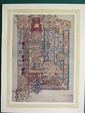 1914 stampa ~ PIASTRA illuminante dal libro di Kells ~ St John's apertura parole