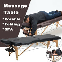 Portable Fold SPA Massage Table Salon Couch Pad Carry Beauty Therapy Bed Black