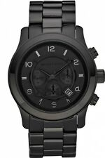 Michael Kors MK8157 Blacked Out Runway Chronograph Unisex WristWatch FreeShippin