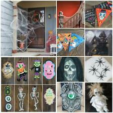 Fiesta de Halloween decoración de casa de Terror Aterrador Utilería Bolsa Colgante De Pared Banner Web
