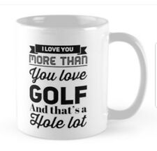 Perfect Fathers day gift Present mug for dad that loves golf