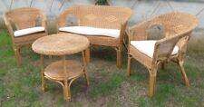 Salottino kele salotto set esterno completo in Vimini  tavolo,divano poltrone