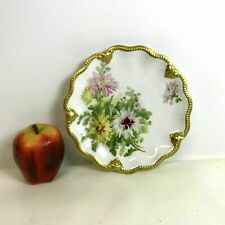 Antique Limoges Porcelain Plate Hand Painted with