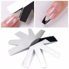 Deep French Nails Cutter Easy Line Almond And V-Shape Tips Set 2 Pcs