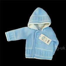 Hermoso Bebé de Niño Azul Doble Chaqueta de Punto con Capucha / Cable /Abrigo/