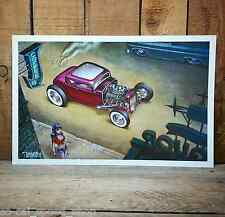 KEITH WEESNER POSTER 1932 FORD 5 WINDOW HOT ROD PRINT VTG STYLE KUSTOM KULTURE