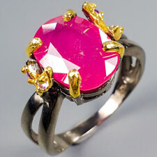 Fashion Women ring Natural Ruby 925 Sterling Silver Ring Size 9.5/R118874