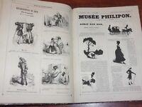 MUSEE OU MAGASIN COMIQUE DE PHILIPON 1600 dessins 1842-43 Cham Gavarni Daumier..