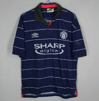 MANCHESTER UNITED 1999/2000 AWAY FOOTBALL SHIRT JERSEY UMBRO SIZE Y