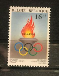 Belgien 1994 Einzelmarke 100 Jahre IOC postfrisch Olympisches Feuer