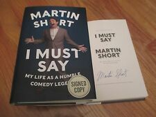 SCTV Saturday Night Live MARTIN SHORT signed I MUST SAY 2014 Book THREE AMIGOS