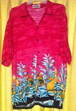 El Noveno Mandamiento.. sea life abstract... Carribean style shirt ..mens XL