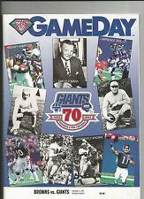 1994 NEW YORK GIANTS VS CLEVELAND BROWNS NFL FOOTBALL PROGRAM