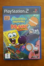 SPONGEBOB SQUAREPANTS - MOVIN WITH FRIENDS - COMPLETE - PS2 PLAYSTATION GAME