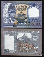 NEPAL 1 RUPEE P37 1991 *REPLACEMENT* GHA78 KING BIRENDRA DEER AMADABLAM UNC NOTE