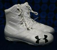 UNDER ARMOUR Highlight MC Clutch TD White Silver Molded Football Cleats Mens 15