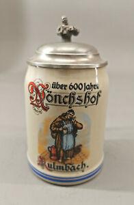 99848088 Keramik-Bierkrug über 600 Jahre Mönchshof Kulmbach H19cm
