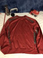 J j. America sweater sweatshirt crew shirt long sleeve red pockets large C13