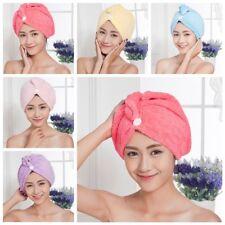 Spa Bath Quick Drying Microfiber Hair Towel Wrapped Turban Turbie Twist Hat Caps