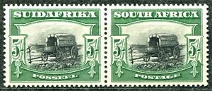 South Africa 1927 issue, SG 38, 5s Green & Black, Mint Lightly Hinged, CV £300
