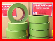 "Lot Of 32 Rolls 1.5"" X 60 Yrds Green Painters Masking Tape Fine Edge MADE IN USA"