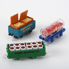 FISHER THOMAS TRACKMASTER SPAGHETTI & MEATBALLS DELIVERY 3 CAR CARGO SET W3544
