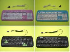 USB Blue Slim Color Keyboard, Green Color Key Keyboard, Black Color Keyboard