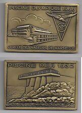 Cercle des nageurs de Marseille Piscine mer 1932, piscine olympique 1968