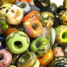 DFDFJ Lampwork 10 USA Handmade Orphan Glass European Charm Bead All Chains SRA