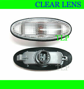2 x CLEAR FENDER LIGHTS SIDE INDICATOR FOR FORD COURIER PE PG PH 98 - 05 00