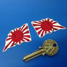 Japonés hinomaru Naval Alférez Ondulado 2 In Bandera calcomanías