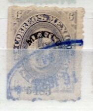Mexico 1879 early Juarez Issue Fine Used 6c. Optd 310942