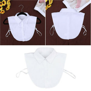 Women's Girls Half Shirt Blouse Top Detachable Fake Collar Removable Choker