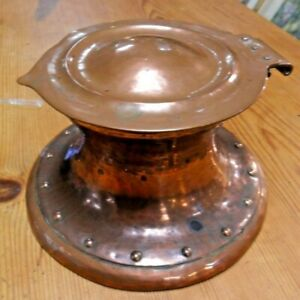 Arts & Crafts Copper Capstan Ink Well