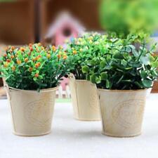 Retro Style Wooden Succulent Plants Square Flower Pot Garden Handmade Planting