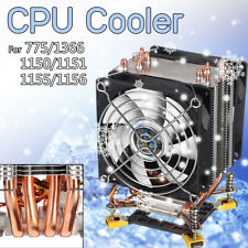 Screw Base CPU Cooler 4 Heatpipes Cooling Fans for LGA 775 1150 1156 1366 1155