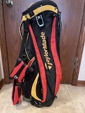 TaylorMade Burner Carry/Stand Golf Bag 7 way Divider  Rare Red black GOLFING