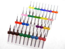 40pk Mixed Toy Making Installer Jewelry Carbide Micro Drill Bits .10mm - 1.0mm