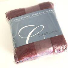 Charisma Luxury 100% Hygro Cotton Hand Towels & Wash Cloths 4 Piece Set - Port