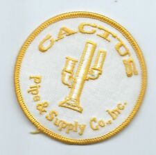 Cactus Pipe & Supply Co Inc Houston TX employee patch3 in dia #523