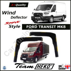 FORD TRANSIT MK8 2014-onwards 2-pc Wind Deflectors HEKO Tinted