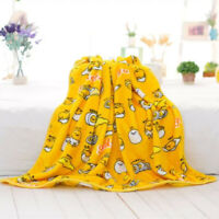 Cartoon Gudetama Warm Flannel Blanket Soft Pillow Cover Girl Bedding Plush Rug
