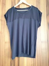 Esprit Gr 42 XL Top Tunika Shirt Braun Stretch