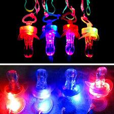 Fashion Pacifier Whistle Party Fun Toy LED Flashing Flash Glow Sticks Bar TOCA
