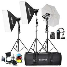 540W 180W x3 Professional Photography Studio Flash Strobe Light Kit Portrait