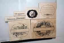 de RETIRED STAMPIN UP STAMPS APOTHERCARY ART 6 PC LOTS OF STAINING RARE HTF